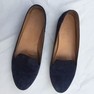 J.CREW Size 8.5 Cora Suede Flat Loafer shoes
